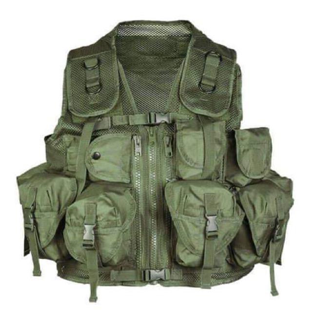Γιλέκο Μάχης Mil-Tec Vest Tactical 9 θήκες χακί