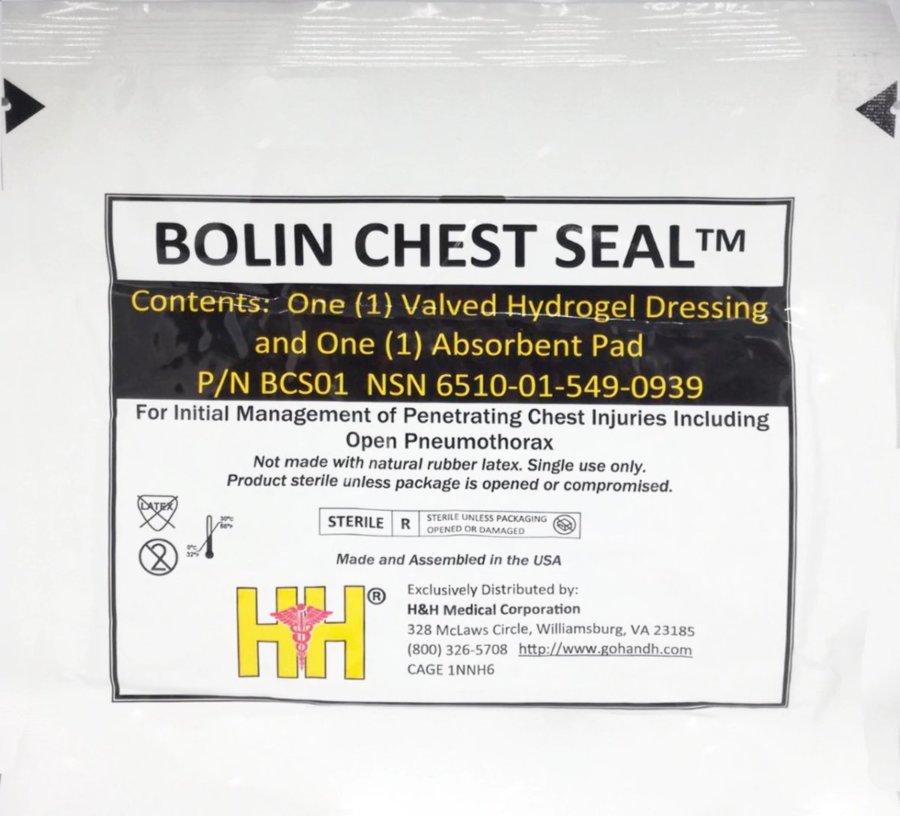 Επίθεμα θωρακικού τραύματος Bolin Chest Seal