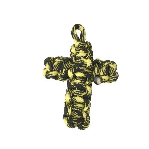 Σταυρός Paracord camo Κίτρινο Μαύρο