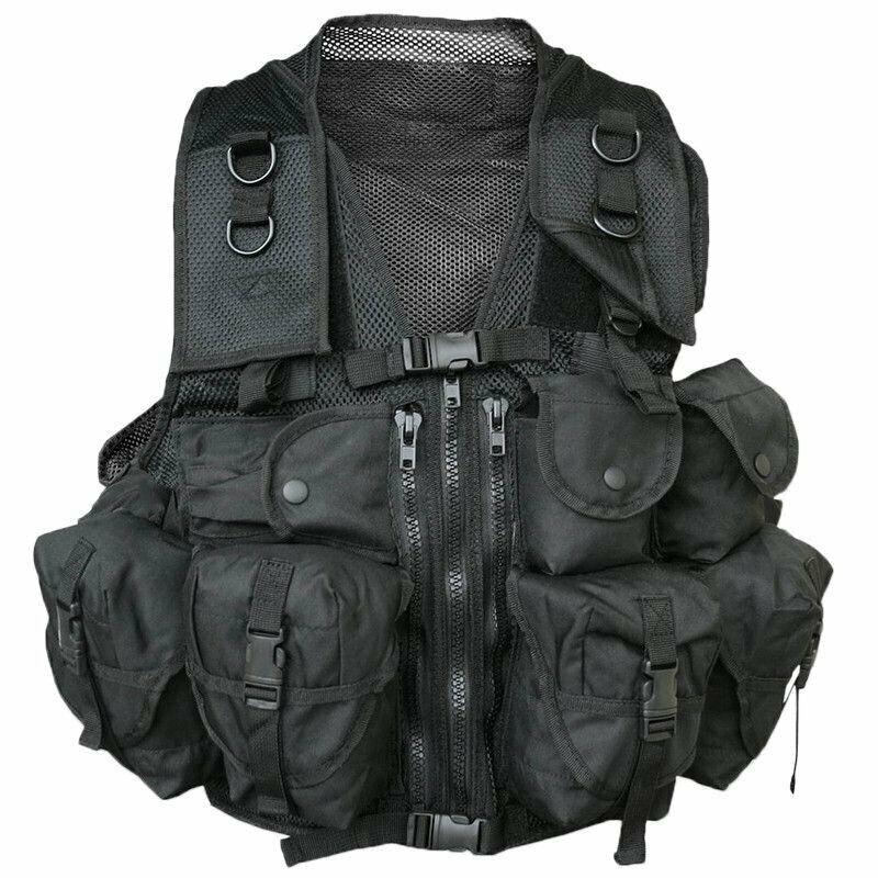 Mil-Tec Γιλέκο μάχης Vest Tactical 9 θήκες μαύρο