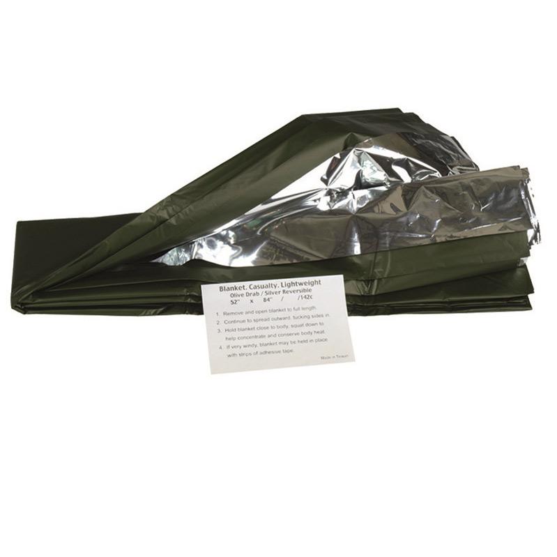 MIL-TEC Κουβέρτα Επιβίωσης – Ασημί / Χακί