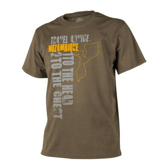 T-SHIRT (TRAVEL ADVICE: MOZAMBIQUE)  COYOTE