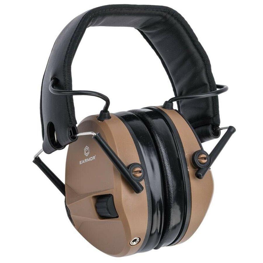Ωτοασπίδες Ηλεκτρονικές EARMOR Μ30 Coyote Brown