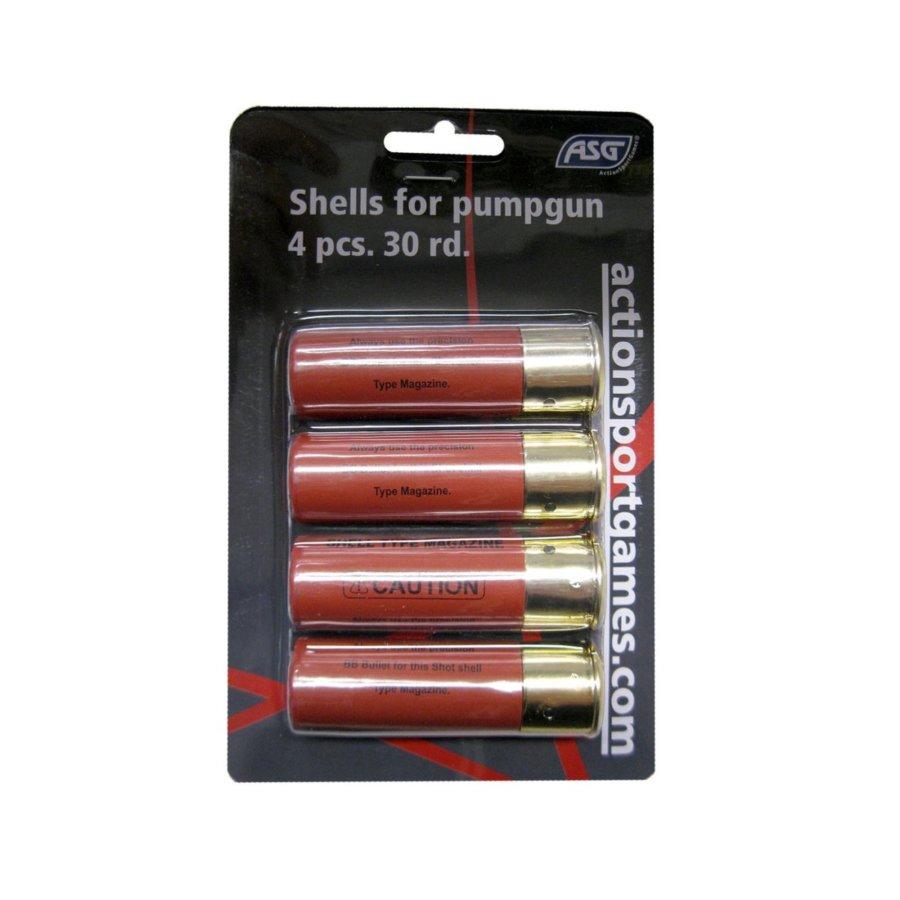Shells for pumpgun, 4 pc. 30 rd