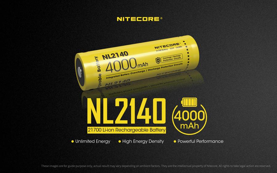 ΜΠΑΤΑΡΙΑ NITECORE 21700/ 4000mAh/ NL2140